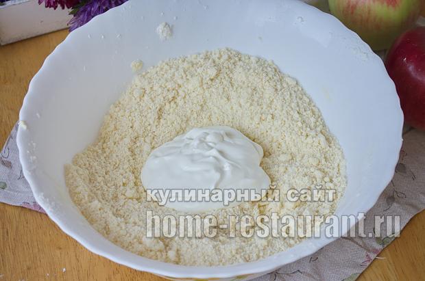 Цветаевский яблочный пирог пошаговый рецепт с фото _05
