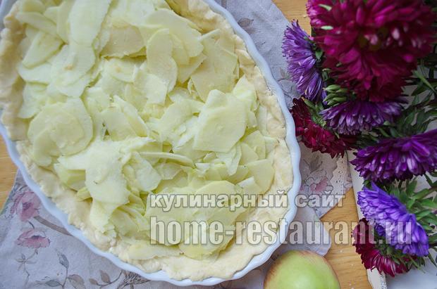 Цветаевский яблочный пирог пошаговый рецепт с фото _10