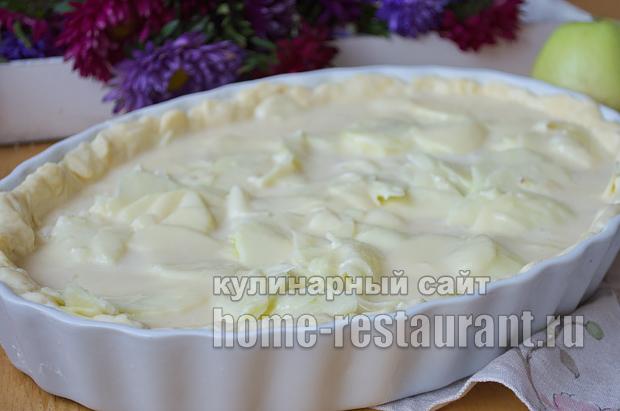 Цветаевский яблочный пирог пошаговый рецепт с фото _11