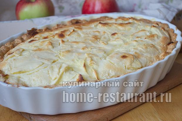 Цветаевский яблочный пирог пошаговый рецепт с фото _12