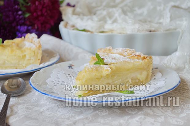 Цветаевский яблочный пирог пошаговый рецепт с фото _15