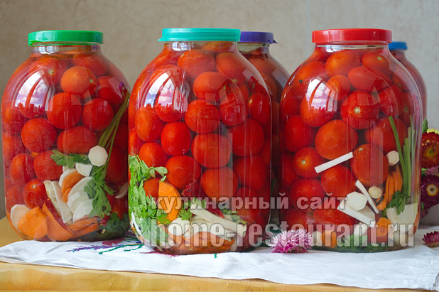 рецепт с фото помидор на зиму