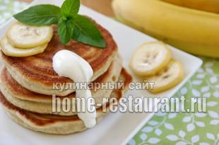 Банановые оладьи рецепт с фото_1