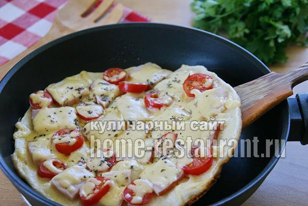 Быстрый рецепт пиццы на сковороде на кефире