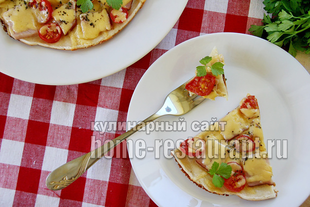 Пицца на сковороде за 10 минут: пошаговый рецепт фото