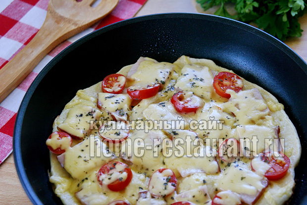 Рецепт теста для быстрой пиццы на сковороде