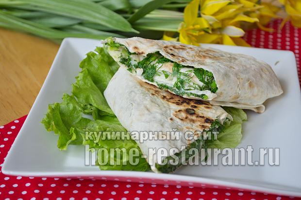 Жареный лаваш с сыром и зеленью фото_11