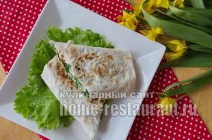 Жареный лаваш с сыром и зеленью фото_12