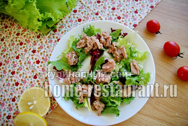 97Как сделать салат с тунцом рецепт пошагово