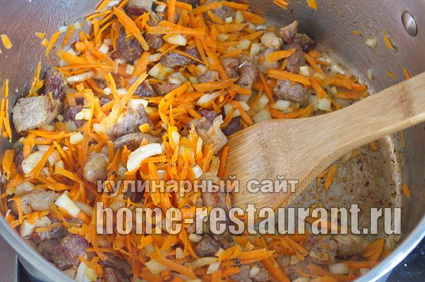 Тушеная капуста с мясом рецепт _05