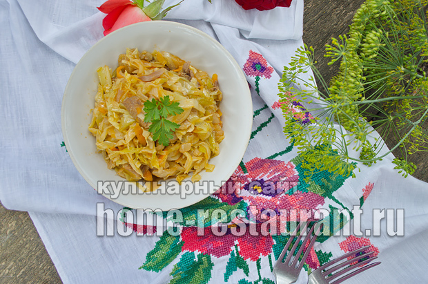 Тушеная капуста с мясом фото, фото рецепт тушеной капусты с мясом