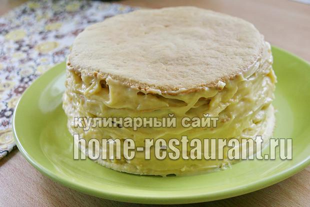 Простой песочный торт в домашних условиях 486