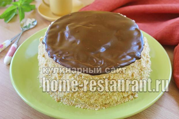 песочный торт с заварным кремом фото_12