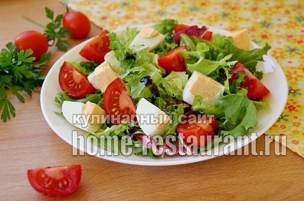 Салат креветки салат помидоры