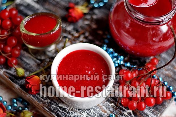 варенье из калины пошаговый рецепт с картинками