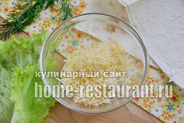 Салаты в лаваше рецепты с с крабовыми палочками