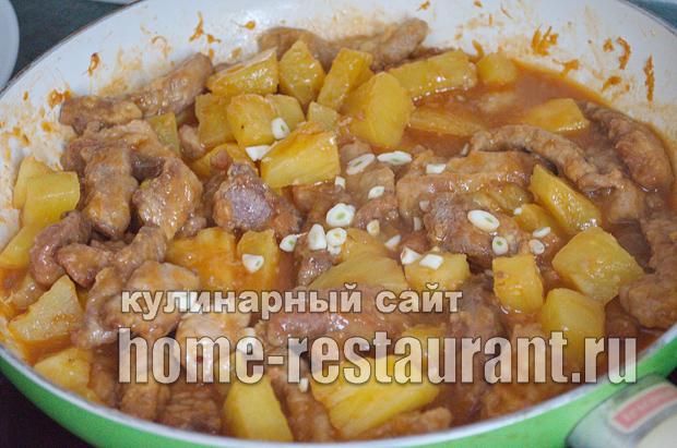 Свинина с ананасами в кисло сладком соусе_14
