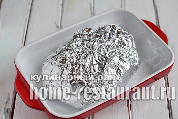 индейка запеченная в духовке в фольге рецепт с фото _07