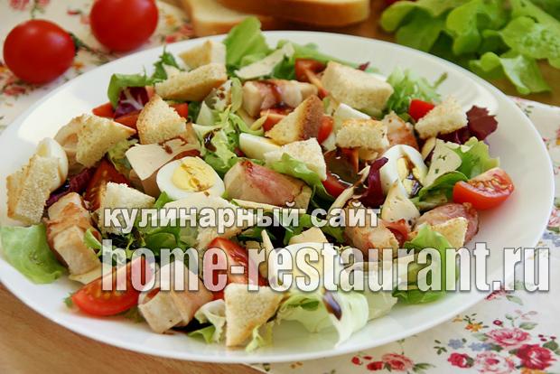 салат с курицей и беконом фото 10