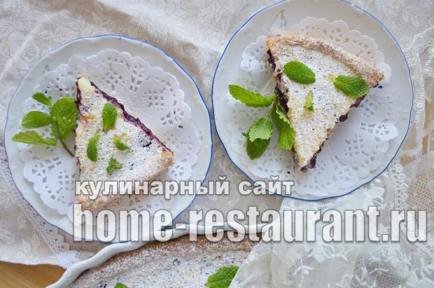 Черничный пирог со сметанной заливкой_16