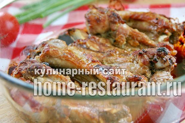 Ребрышки свиные в духовке простой рецепт _5