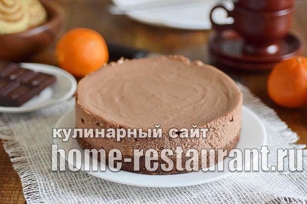 Шоколадный чизкейк рецепт с фото пошагово _08