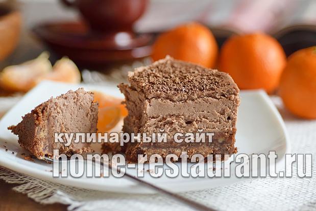 Шоколадный чизкейк рецепт с фото пошагово _10