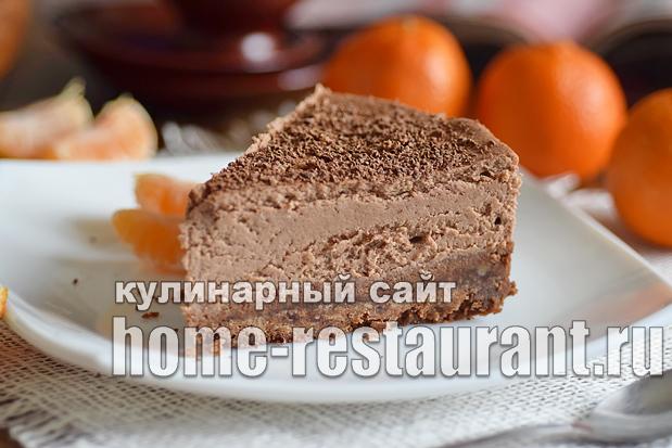 Шоколадный чизкейк рецепт с фото пошагово _14