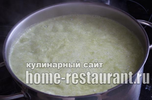 Суп пюре со шпинатом и плавленым сыром_09