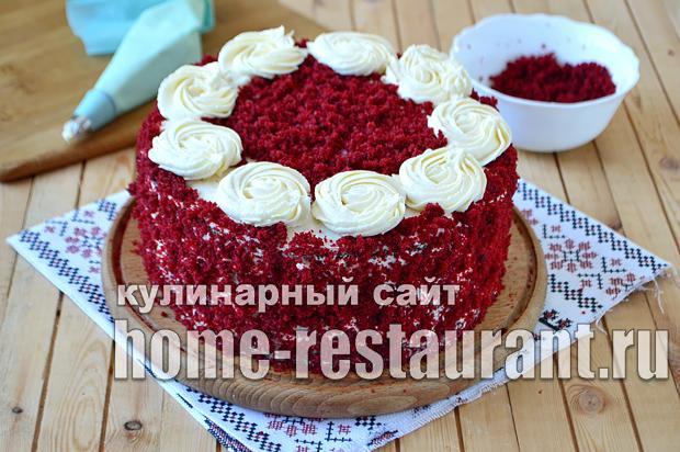 Торт Красный Бархат рецепт с фото пошагово_09