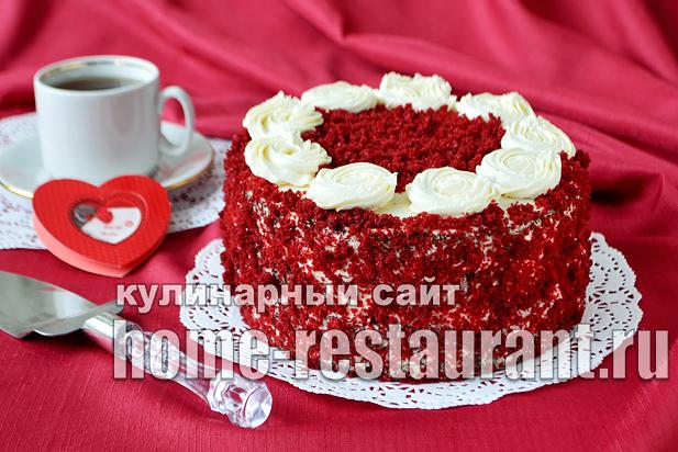 Торт Красный Бархат рецепт с фото пошагово_11