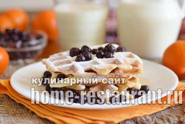 Венские вафли рецепт для электровафельницы  _14