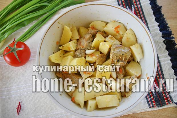Картошка в горшочке с мясом в духовке