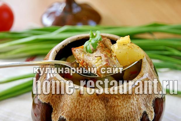 Картошка в горшочке с мясом в духовке фото_09