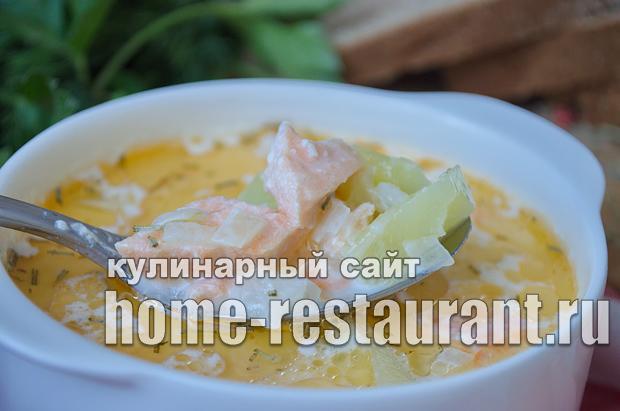 финский суп с лососем и сливками рецепт с фото _13