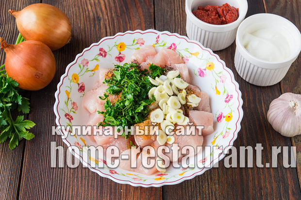 рецепт гуляша из курицы с мукой