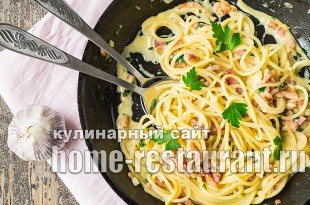 Спагетти карбонара классический рецепт со сливками _4