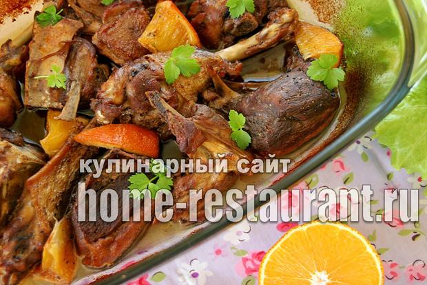 Утка с апельсинами в духовке: рецепт с фото