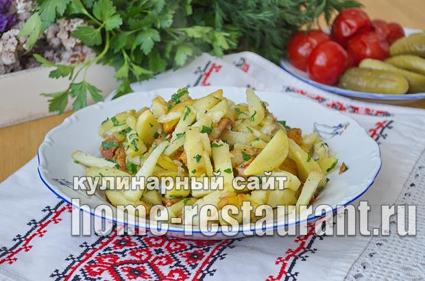 Жареная картошка с лисичками рецепт с фото_09