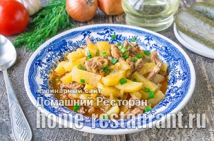 Азу по-татарски с солеными огурцами фото_05