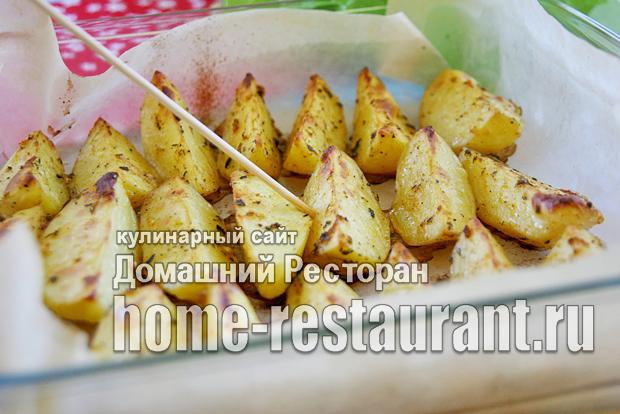 как запечь картошку в духовке до золотистой корочки