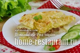 Картофельная запеканка с фаршем в духовке  фото_05