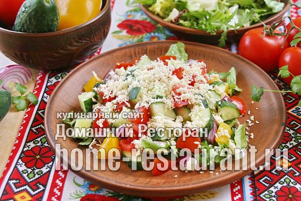 Шопский салат рецепт классический с фото_6