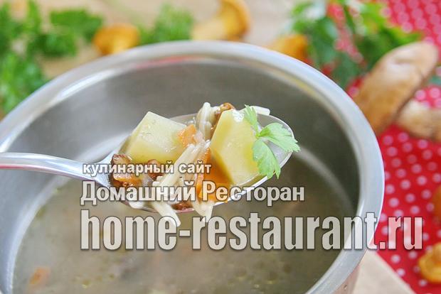 Суп из лесных грибов фото_2