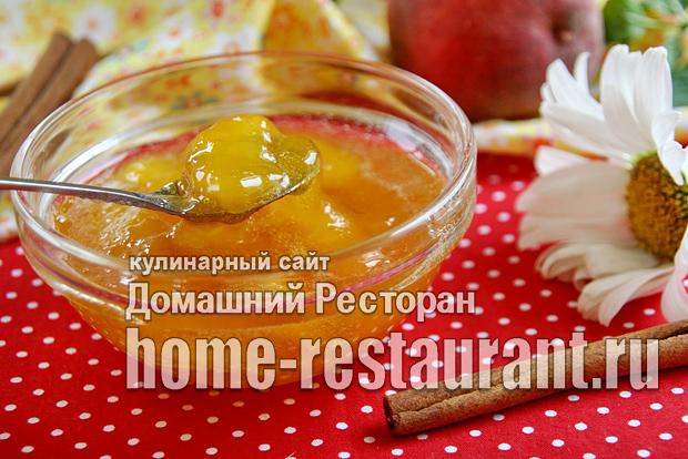 Варенье из персиков с корицей на сковороде фото_1