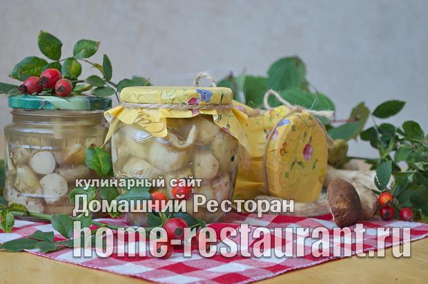 Белые грибы на зиму в банках фото_12