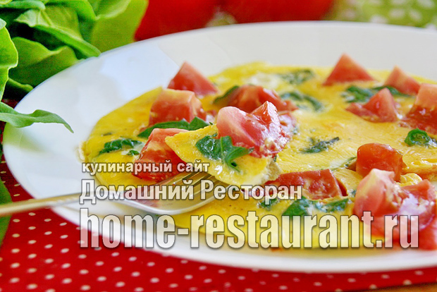 омлет со шпинатом фото 12