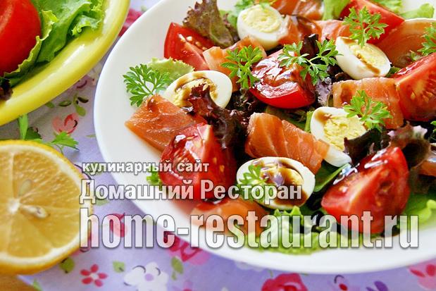 Салат с семгой слабосоленой фото_2