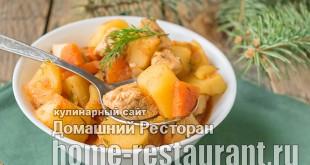 Рагу из курицы с овощами фото