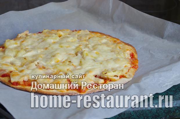 Гавайская пицца с ананасами и курицей фото_16